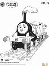 Thomas Coloring Friends Train Pages Neo sketch template