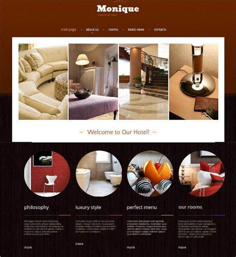 hotel website themes templates  premium