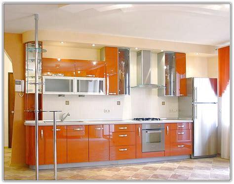 Orange Kitchen With Black Cabinets Home Design Ideas