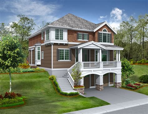 home plans for sloping lots for the front sloping lot 2357jd 2nd floor master