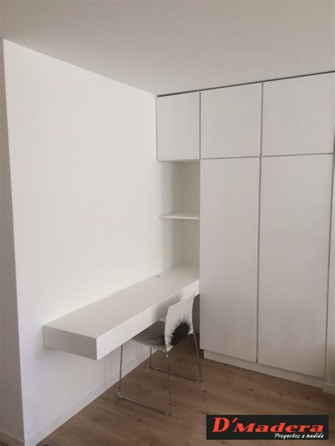 armario  escritorio integrado lacado blanco