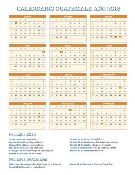 calendario de guatemala ano feriados