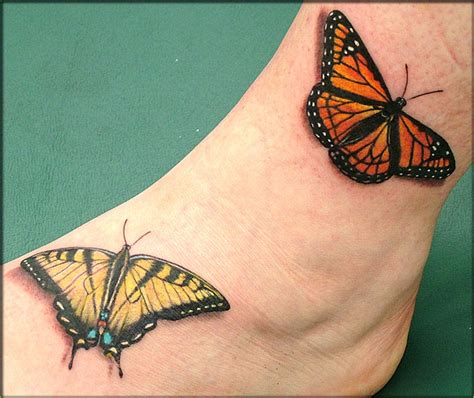 butterfly tattoos  outer ankle