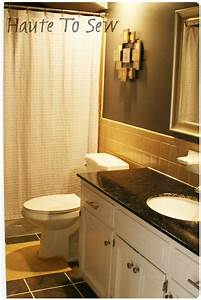 bathroom makeover yellow gray color scheme cheap With cheapest way to redo bathroom