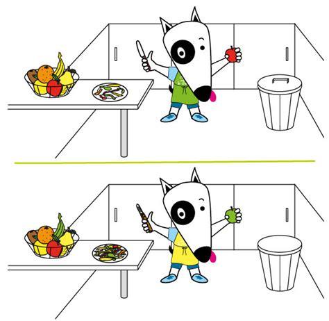 jeux 7 erreurs 9 gaspillage alimentaire association la soupe aux cailloux