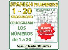 Spanish Numbers 1 to 20 Crossword – Crucigrama Woodward