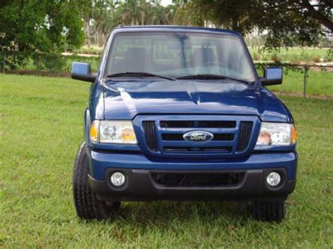 sell used blue 2009 ford ranger sport 4x4 supercab xlt package 4 door in miami florida united