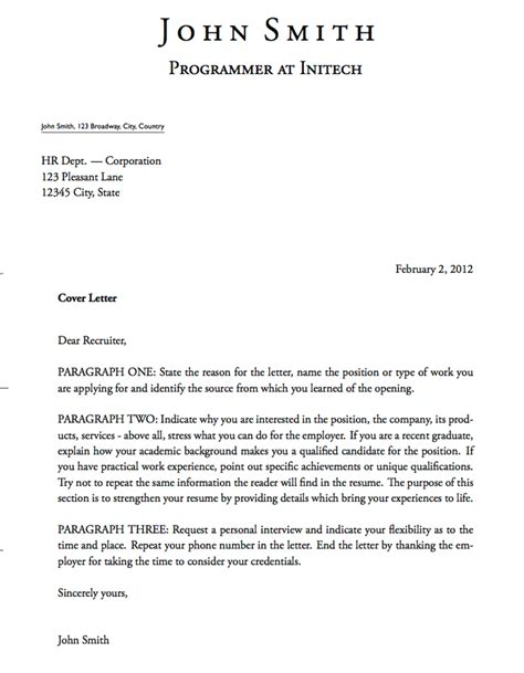 Resume Cover Letter Format by Cover Letter Template For Banking Position Search