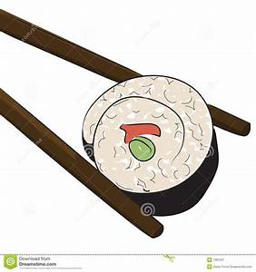 Japanese Sushi Roll Royalty Free Stock Photography - Image ...