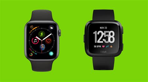 apple series 4 v fitbit versa everyday smartwatches go to