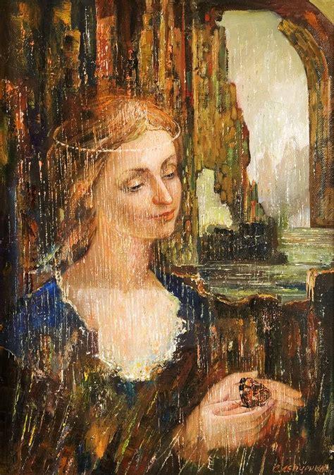 renaissance woman painting  volodymyr slepchenko