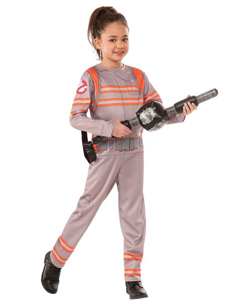 ghostbusters kostüm kinder ghostbusters kinderkost 252 m mit spielzeugwaffe grau orange kost 252 me f 252 r kinder und g 252 nstige
