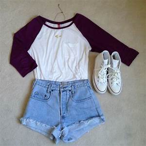 shirt shorts denim cute converse fashiom fashion vintage ...