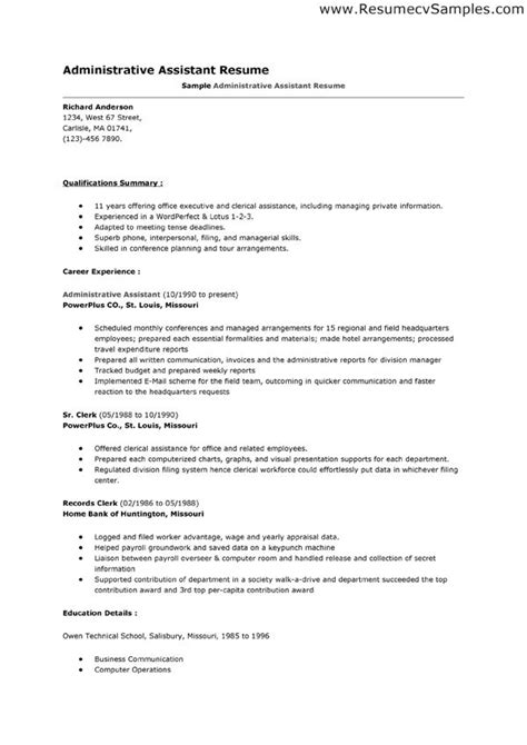 free resume builder for administrative assistant resume exle docs resume templates 2016 docs cover letter template docs