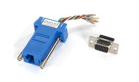 modular adapter kit db9 rj45 blue black box