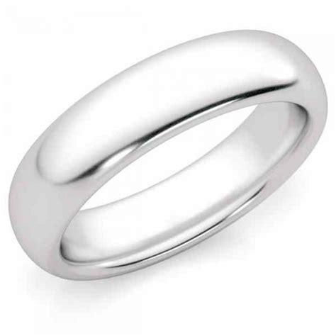 wedding rings 5mm platinum plain wedding band ring