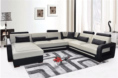 Top Quality Royal Design Sectional Corner Genuine Leather