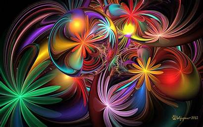 Abstract Colorful Flower Deviantart Fractal Background Wallpapers