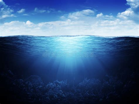 waterline  underwater background stock image image
