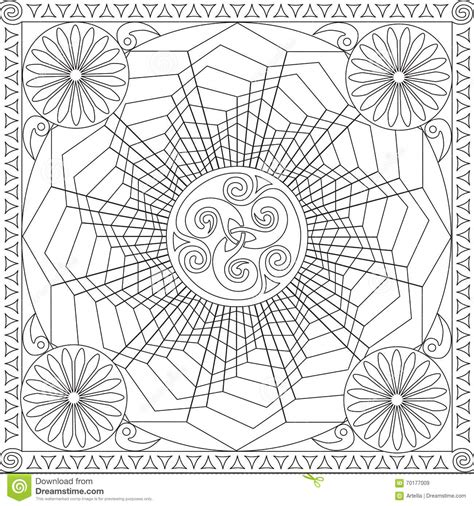 ✓ free for commercial use ✓ high quality images. Coloring Page Book For Adults Square Format Geometric ...