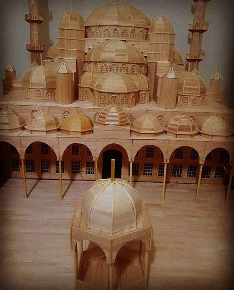 architectural scale model  popsicle stick art