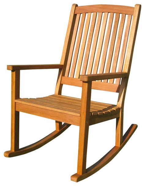royal tahiti large outdoor wood rocking chair brown stain