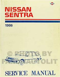 1989 Nissan Sentra Sedan Xe Gxe Service Repair Shop Set Factory Oem 89 1989 Nissan Sentra Service 1989 Sentra Wiring Diagram