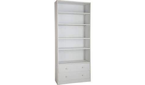 Argos Maine Bookcase by Buy Argos Home Maine 4 Shelf 2 Drawer Bookcase White