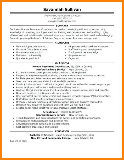 Sle Human Resources Resume Entry Level by 8 9 Sle Hr Generalist Resumes Cingene Org