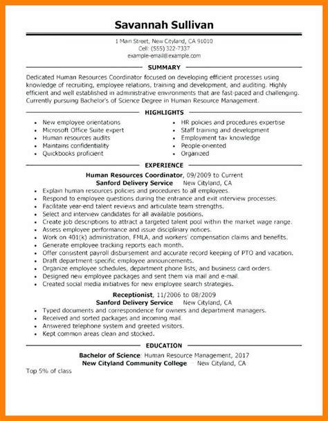 Human Resource Generalist Resume by 8 9 Sle Hr Generalist Resumes Cingene Org