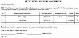 Акт передачи дел при увольнении главного бухгалтера организации