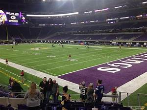 Vikings Stadium Seating Chart With Seat Numbers U S Bank Stadium Section 103 Minnesota Vikings