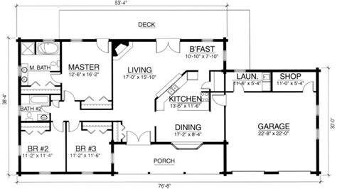 3 Bedroom Log Cabin Floor Plans 3 Bedroom Home Kits, Cabin