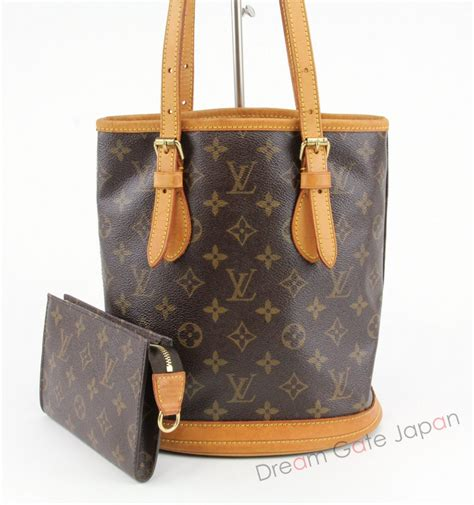 authentic louis vuitton monogram bucket pm shoulder bag