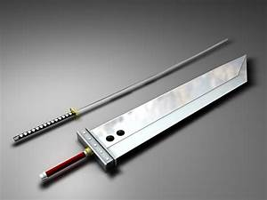 Sephiroth's masamune and Cloud's buster sword. Final ...