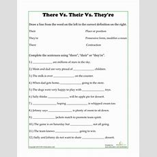 There, Their, They're  Worksheet Educationcom