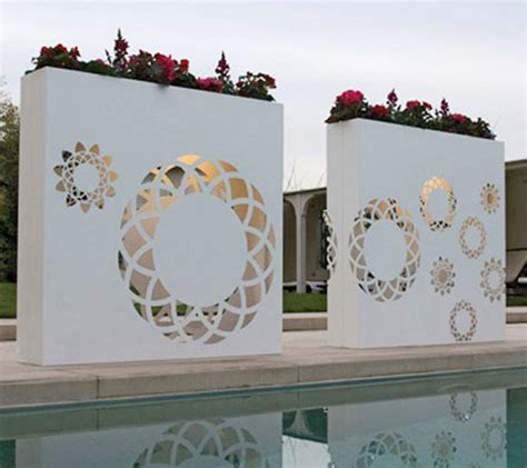 wall designs for outside outdoor pots and planters ideas by bysteel