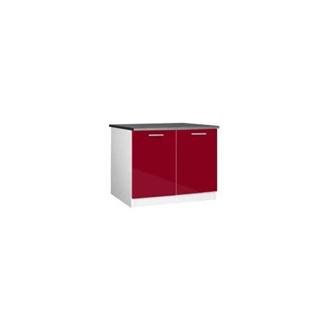 meuble bas de cuisine 120 cm meuble de cuisine bas 2 portes 120 cm tara laqué