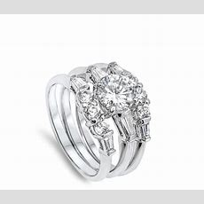 White Cz Wholesale Wedding Set Ring New 925 Sterling