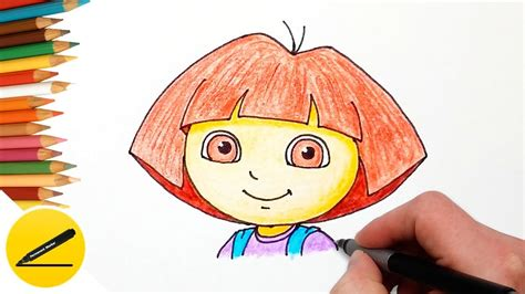 How To Draw Dora The Explorer Step By Step Easy And