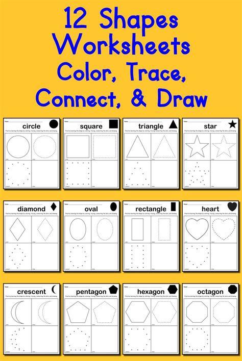 learning shapes bundle 130 printable shapes worksheets supplyme