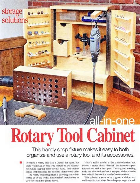 rotary tool cabinet plans workshop solutions small woodworking projects woodworking