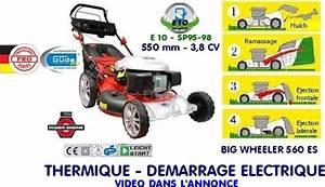 Tondeuse Thermique Démarrage électrique : tondeuse auto tractee demarrage electrique big wheeler 560 ~ Dailycaller-alerts.com Idées de Décoration
