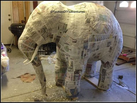 tutorial     paper mache elephant  life