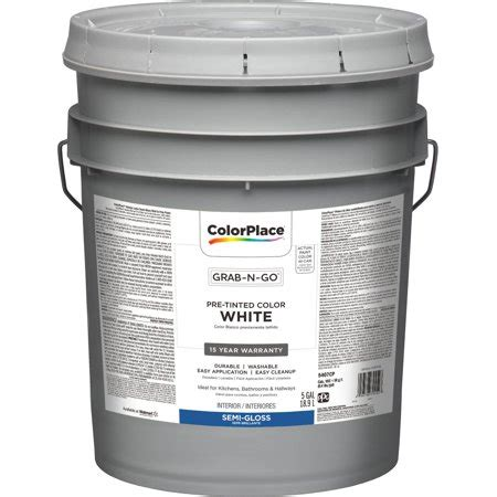 colorplace pre mixed ready to use interior paint white gloss finish 5 gallon brickseek