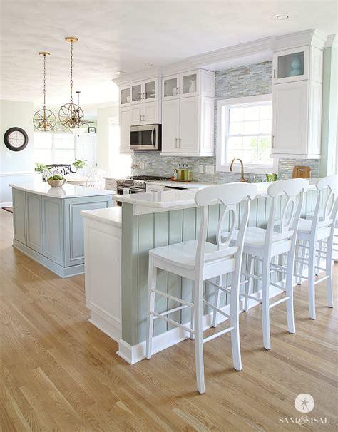 coastal style floor ls coastal kitchen makeover the reveal