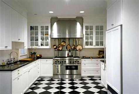 kitchens with black and white floors black and white flooring black and white kitchens black 9632