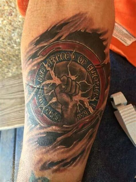 electrician tattoos ibew artwork ibew union pinterest artworks