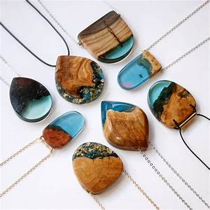 Jagged wood fragments find new purpose when fused with for Resin jewelry britta boeckmann