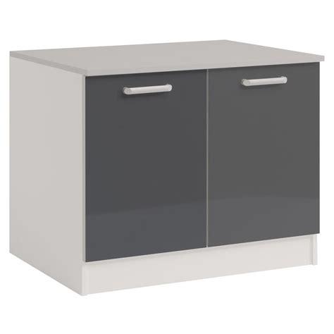 meuble bas cuisine 120 meuble bas 2 portes 120 cm quot shiny quot gris